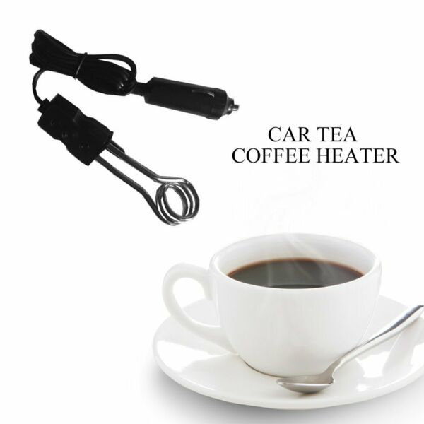 Portable 12V Car Immersion Heater Auto Electric Tea Coffee Water Heater KW