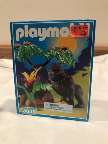 Playmobil 3039 gorrilla in jungle With Banana Rare Geobra 1999 Sealed $21.99