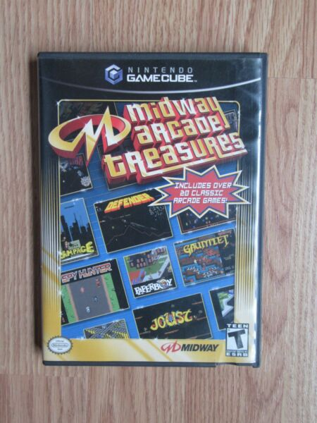 MIDWAY ARCADE TREASURES GAMECUBE OVER 20 GAMES COMPLETE WITH MANUALS