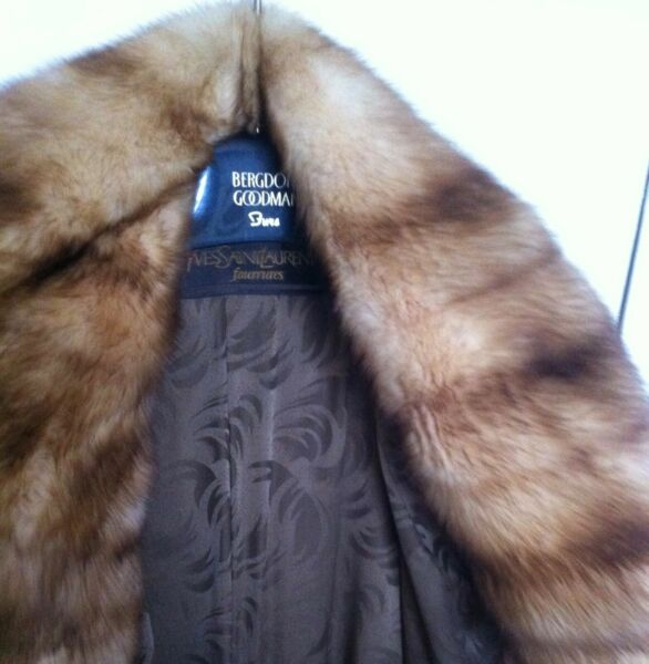 SALE~ YVES SAINT LAURENT Fourrures Natural RUSSIAN GOLDEN SABLE Full Length COAT