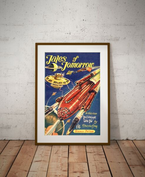 1950#x27;s Science Fiction POSTER up to 24 x 36 Vintage Spaceship SciFi $28.00