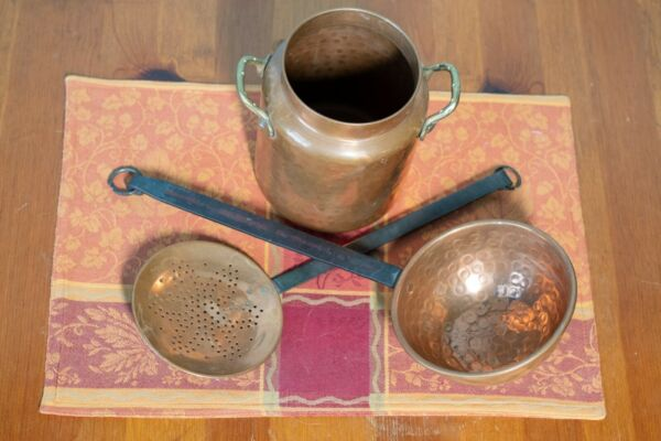 Vintage Copper Cookware Set Made In Turkey