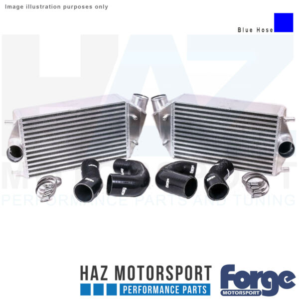 Forge Motorsport Uprated Intercooler + Blue Hoses For Porsche 997.2911 Turbo