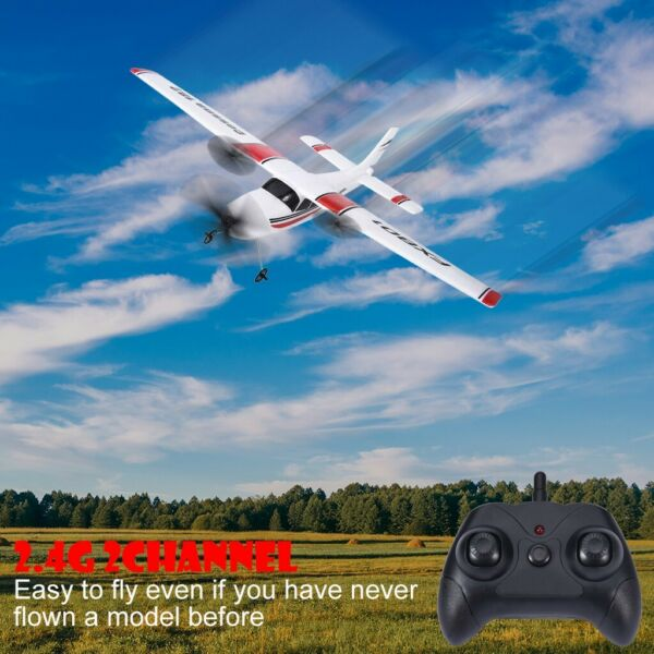 RC Plane 2.4Ghz 2CH RC Airplane EPP Foam Ready To Fly RTF Gliding Aircraft Gifts