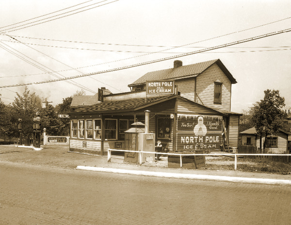 1928 North Pole Ice Cream Store amp; Gas PA Old Photo 8.5quot; x 11quot; Reprint $12.73