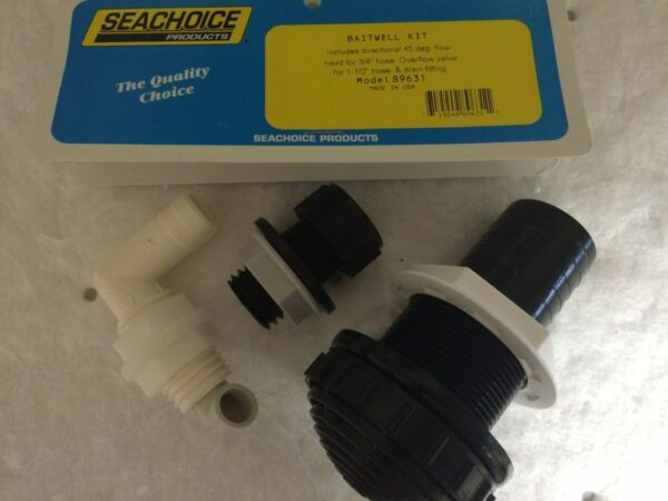 BAIT TANK PLUMBING KIT THRU HULL 89631 LIVEWELL HARDWARE INLET DRAIN FITTINGS