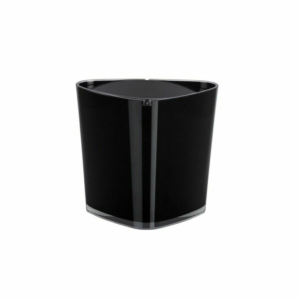 Trix Acrylic Black Waste Bucket Cosmetic Pail Table Branded Product Switzerland