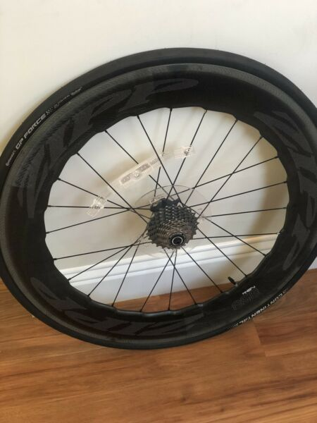 Brand New Zipp NSW 858 Rear Clincher Wheel WITH Shimano DuraAce Cassette