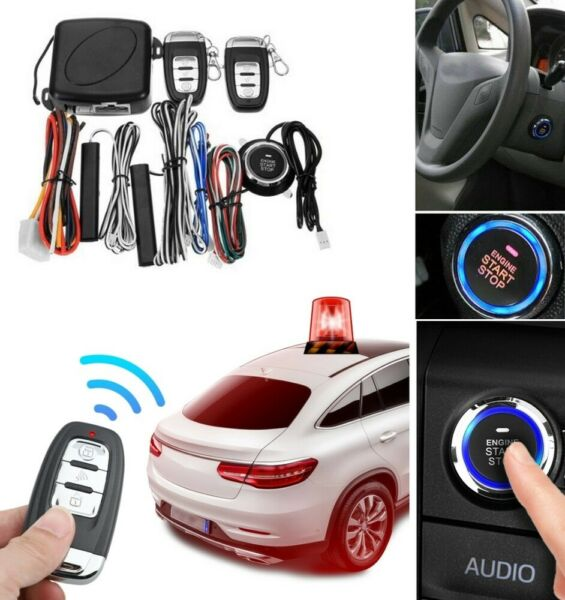 New Start Push Button Remote Starter Keyless Entry Car SUV Alarm System Engine