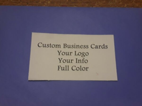 Custom Full Color Business Cards 100 Cards Free Shipping $6.00