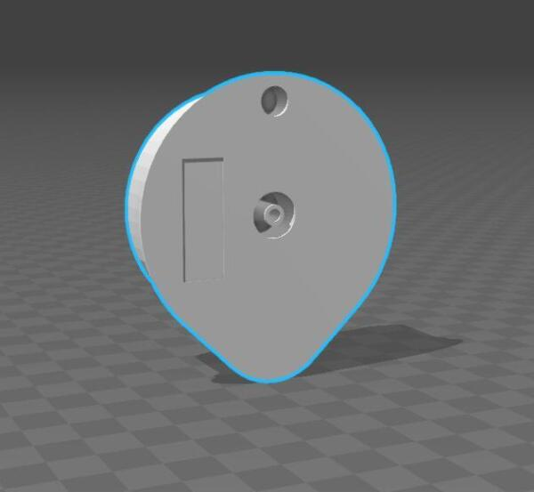 3D drawing Hand Made Reusable Disc for Tassimo T Disc for SolidWorks