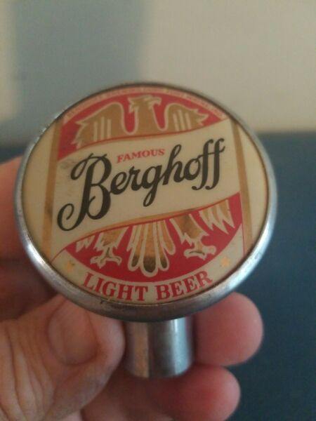 (VTG) 1930s befghoff beer ball knob chrome tap handle for Wayne Indiana
