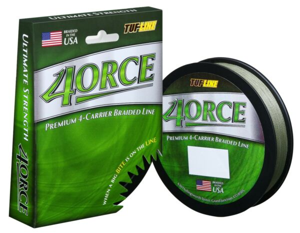 Tuff Line 4orce 4 Carrier Premium Braided line 8 lb 125 YDS GREEN $8.99