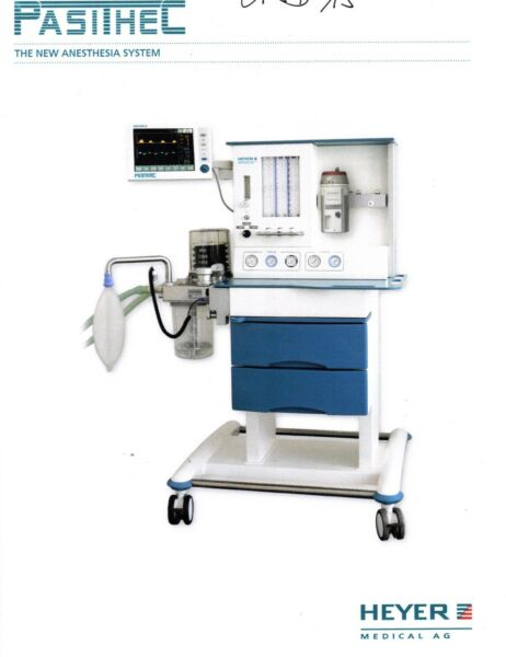 HEYER PASITHEC The New Anesthesia System With SCALIS 12 Patient Monitor HLS EHS