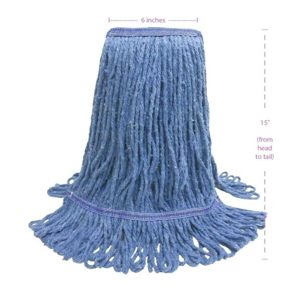 U-CLEAN Commercial Cotton ABSORBENT Cleaning Mop Heads