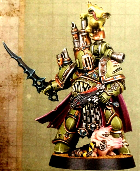 Plague Marine Chaos Lord Space Marine Hero 3 Warhammer 40K Death Guard Champion
