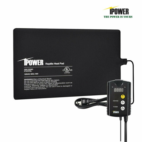 iPower Under Tank Heat pad and Digital Thermostat Combo Set for Reptiles 4 sizes $34.99