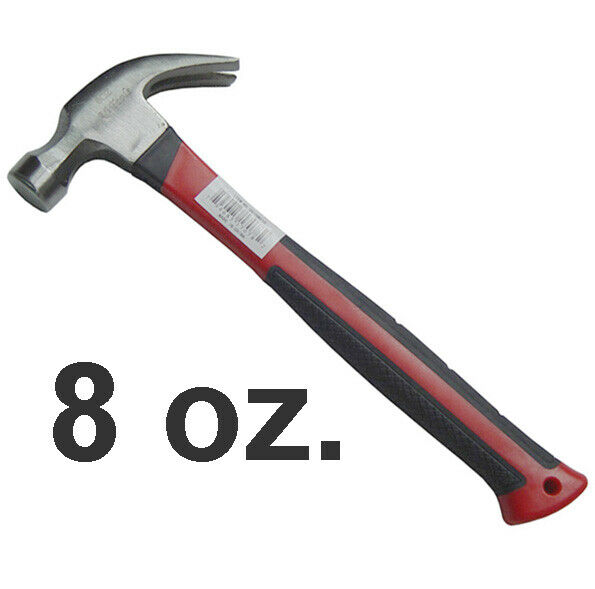 Curved Claw Hammer 8 OZ  Ripping Nails with Non Slip Grips FREE SHIPPING