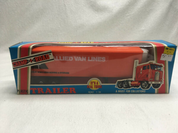 Champ of the Road Plastic Trailer Allied Van Lines 1:50 Never Out of Box FreeShp