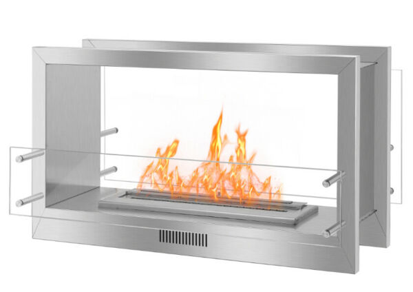 Build-in Smokeless  Ethanol FireplaceSee Through Double-Sided Unite 51.2''W