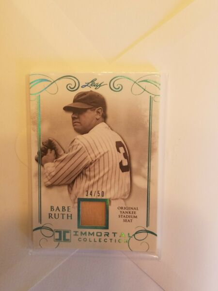 BABE RUTH 2017 LEAF IMMORTAL COLLECTION SEAT NEW YORK YANKEES  #YS-03 #3450