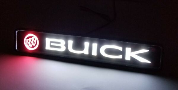 BUICK LED Logo Light Car For Front Grille Badge Illuminated Decal Sticker