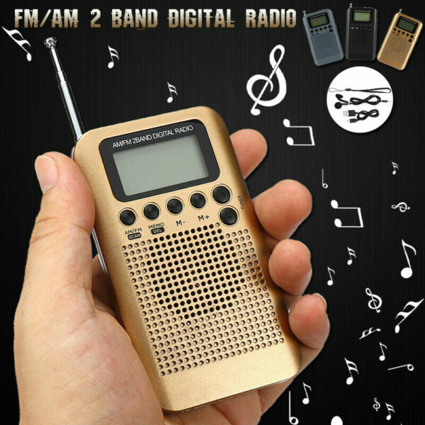 Mini Radio Pocket Receiver FMAM 2 Band Digital LCD Stereo Anti-Noise NEW G7D4