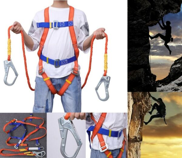 Safety Rock Tree Climbing Rappelling Harness Seat Sitting Bust Belt Full Body US