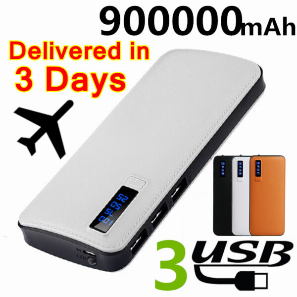 Fast Charge Power Bank 900000mAh LED Portable External Backup Battery Charger