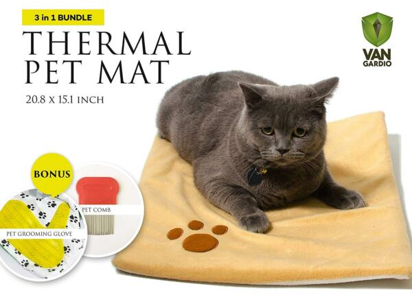 Thermal Mat Self Warming Heating Pad for Pets Cat and Dog Bed Grooming Glove $12.50