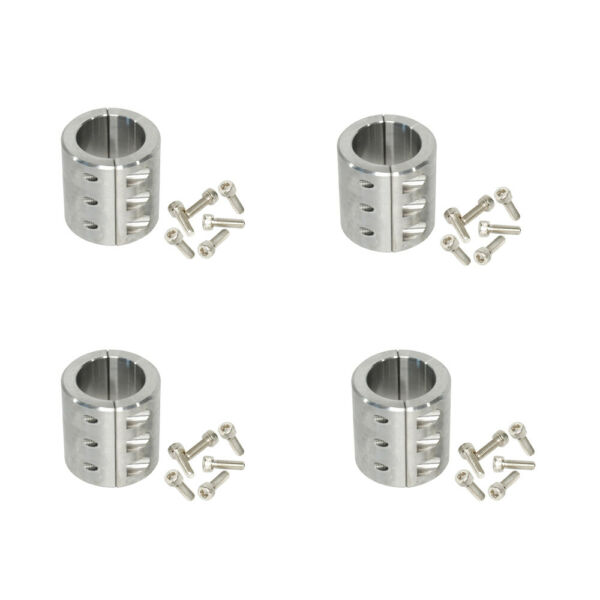 4 Steel Clamps On 1.75quot; 1 3 4quot; Universal Roll Cage Mounts Lightbar Mount