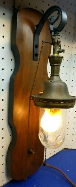 Antique gas light Reflex Welsbach No 6 Hanging Fixture converted electric $29.99