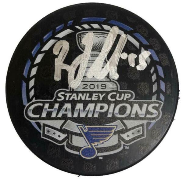Robby Fabbri St Louis Blues Autographed Stanley Cup Champions Logo Puck