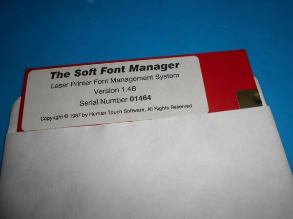 The Soft Font Manager Floppy Disk Diskette 5 14