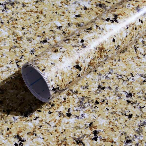 Granite Brown Contact Paper Countertops Waterproof Thick Wallpaper For Kitchen