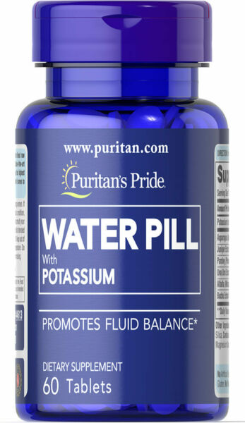 WATER PILLS W POTASSIUM FLUID BALANCE WEIGHT LOSS CONTROL 60 TABS
