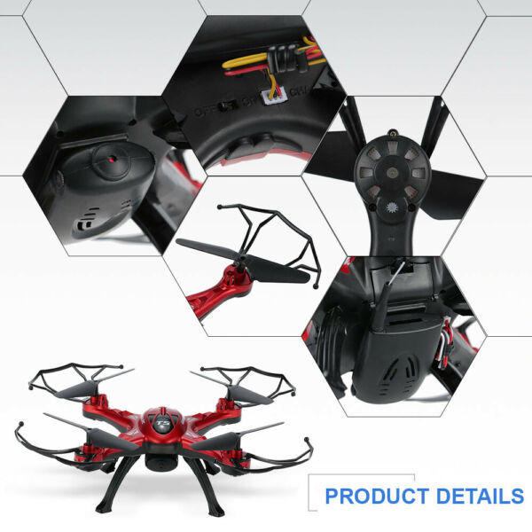 GoolRC T5G 5.8G FPV Drone 2.0MP HD Camera RC Quadcopter Mode 2 Toys Red G7B4