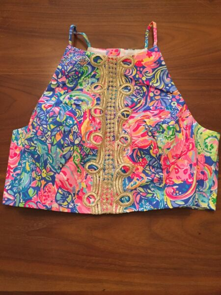 Lilly Pulitzer NWT Navia Skirt Set Crop Top Only Pop Up Back Together Again Sz 6