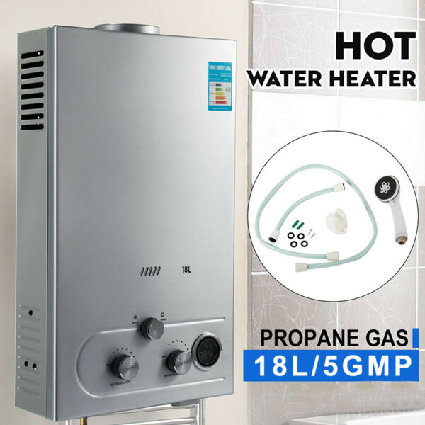 18L 5GPM Lpg Tankless Water Heater Instant Hot Water Boiler Shower for Home