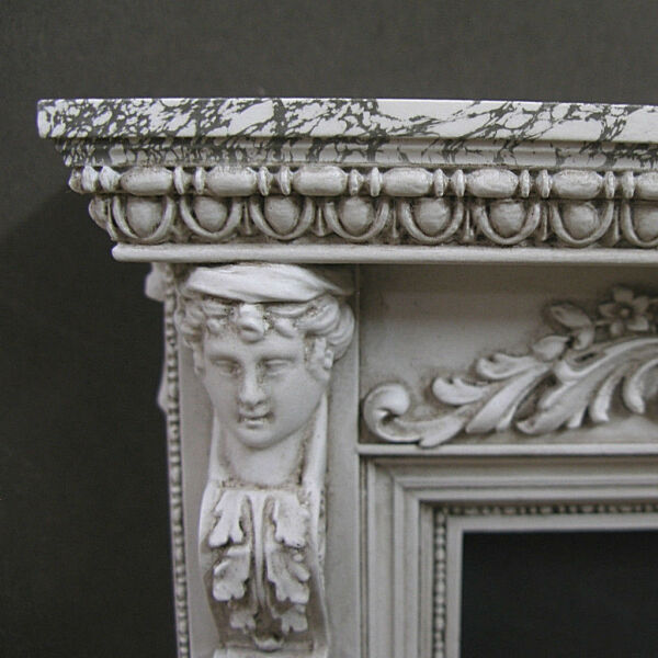 FIREPLACE ~ Marble Finish ~ Distressed~  Dollhouse Mini~ 1:12 scale ~ Room box