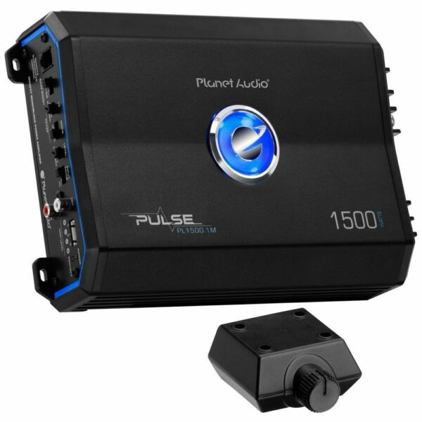 Planet Audio PL1500.1M Pulse 1500 Watt Monoblock Class AB Amplifier Amp Remote