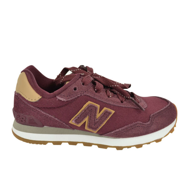NIB New Balance 515 Boy Girl Suede Running Sneakers in Burgundy for Infant 11.5 $34.99