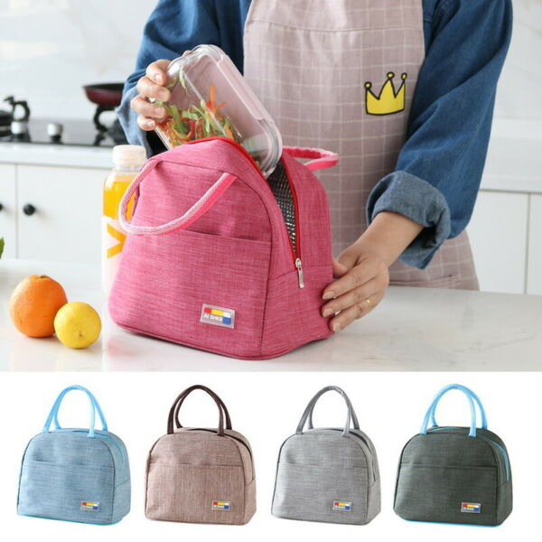 Adults Women Girls Portable Insulated Lunch Bag Box Picnic Waterproof Tote