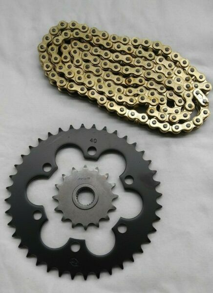 Bombardier DS650 Sprocket and & Heavy Duty Gold Chain Kit
