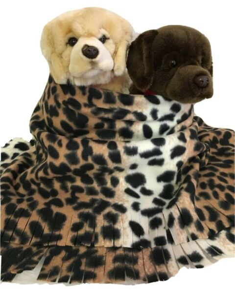 LEOPARD Fuzee Fleece Dog BlanketsSoft Pet Blanket Travel Throw Cover $14.40