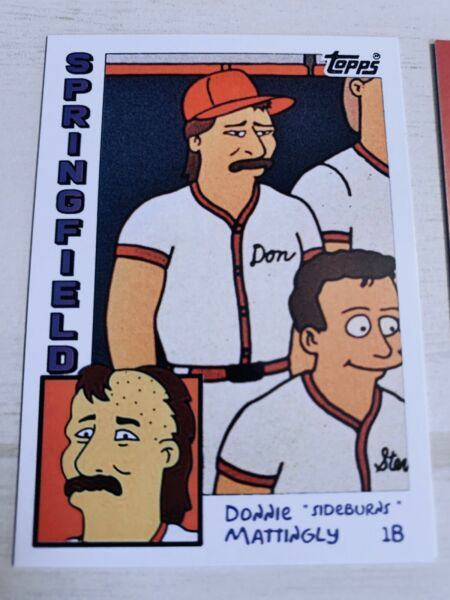 Don Mattingly Rookie 1984 SimpsonsStyle ACEO Custom Novelty Card 2019