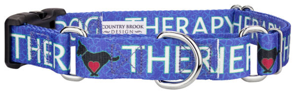 Country Brook Petz™ Blue Therapy Dog Martingale with Deluxe Buckle $13.95