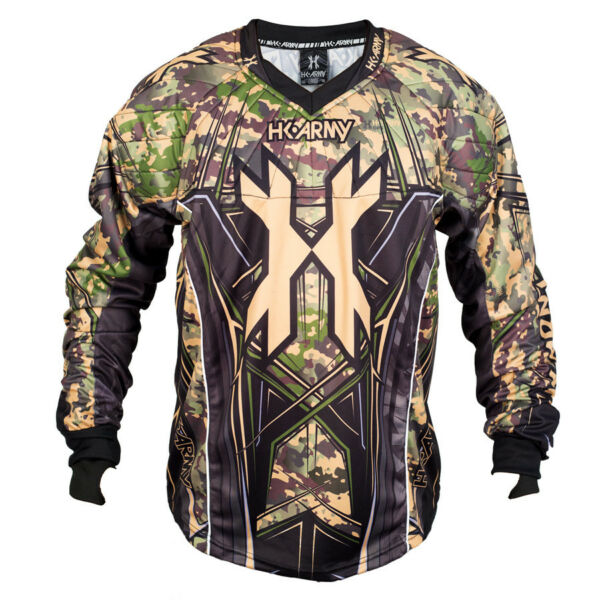 New HK Army Paintball HSTL Line Playing Jersey Camo Camouflage Large L
