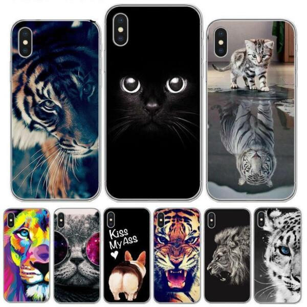 Phone Case For iPhone X 8 8Plus 7 6 6S Plus 5S SE Cool Tiger Owl Cat Dog Covers $8.54