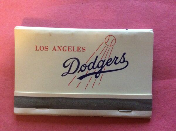 Vintage 1970's Los Angeles Dodgers STADIUM ISSUE Full NRMT Matchbook.